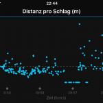 Garmin vivoactive HR - Detailansicht Distanz pro Schlag