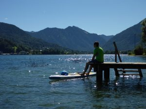 Kurze Pause mit Blick auf Rottach-Egern und die Alpen (Bildquelle: A. Ebner)