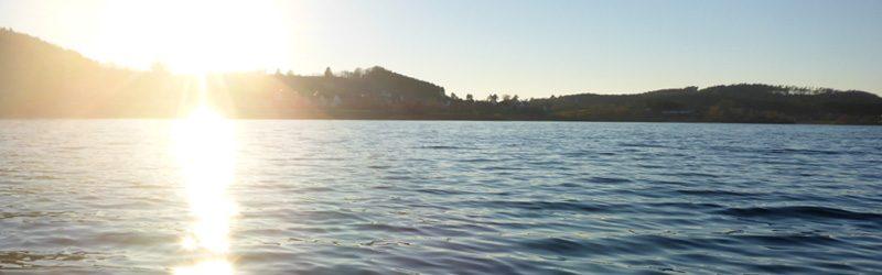 Traumtag im Winter – rauf aufs SUP im Fränkischen Seenland