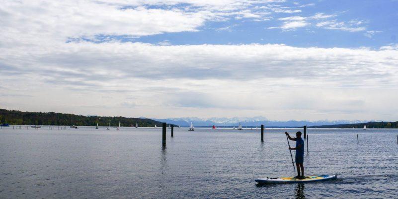 BloggerSUP am Starnberger See, Foto: Thomas Pfannkuch / SUPmatrose.de
