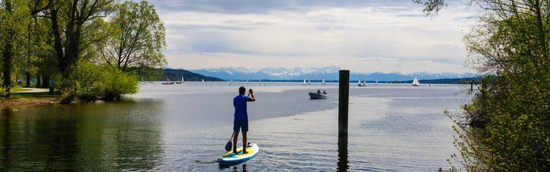 #BloggerSUP – Den Starnberger See beim Stand Up Paddling erleben