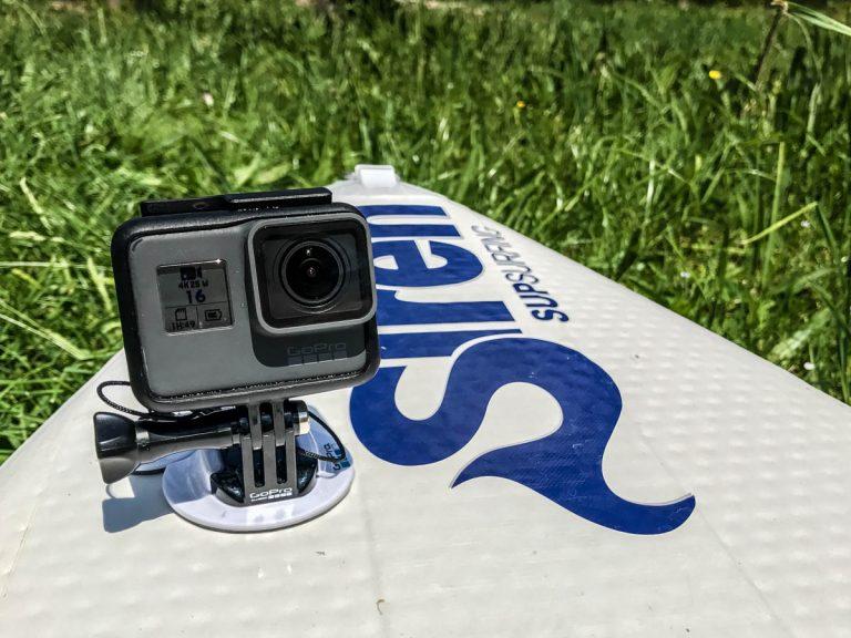 SUP-Kameraausrüstung: GoPro-Surfhalterung (Foto: T. Pfannkuch / SUPmatrose.de)