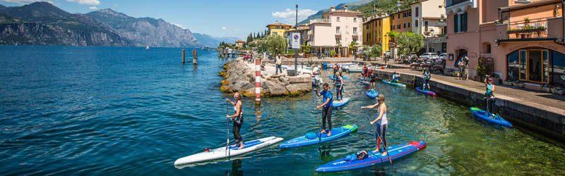 SUP am Gardasee – Abenteuer zwischen Bergen, auf dem Wasser und an Land