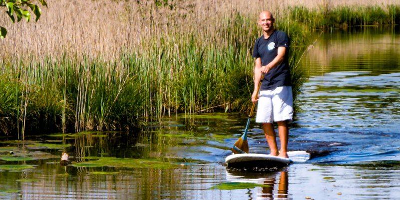 Tripstix Surfboard auf dem Wasser (Foto: T. Pfannkuch / SUPmatrose.de)