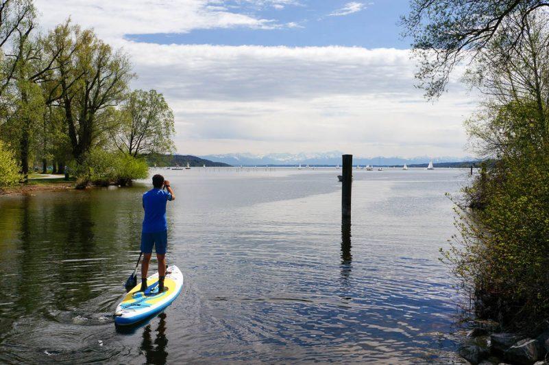 SUP am Starnberger See: Märchentour zu Kini und Sisi (Foto: Angela Frühschütz)