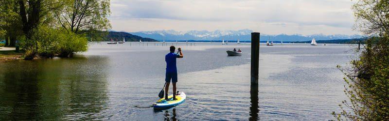 SUP-Märchentour am Starnberger See zum Kini und zur Sisi