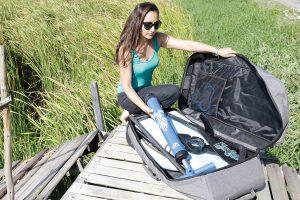Pumpe und Rucksack für Inflatable SUP-Board (Foto: Starboard)
