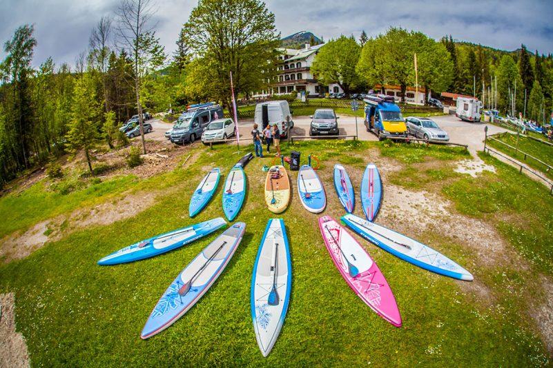Hardboards und Inflatables - Die Vielfalt an SUP-Boards ist groß (Foto: Starboard/Andy Klotz)