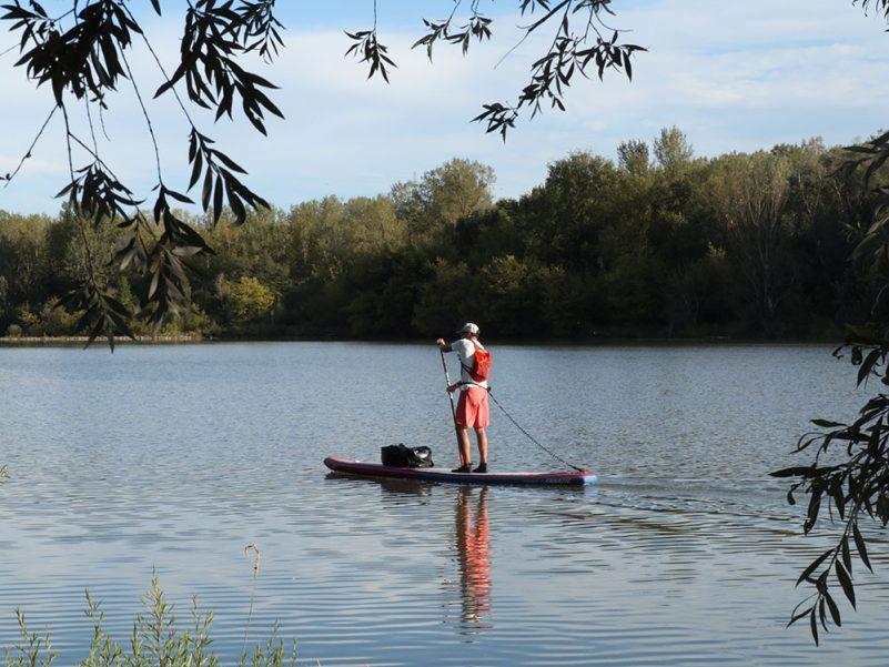 Pascal auf einem Seitenarm der Donau kurz vor dem Wehr in Altenwörth (Quelle: Pure Water for Generations)