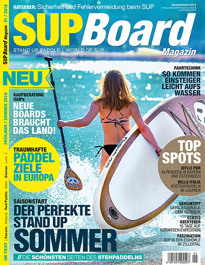 Cover SUP Board Magazin 1/2018