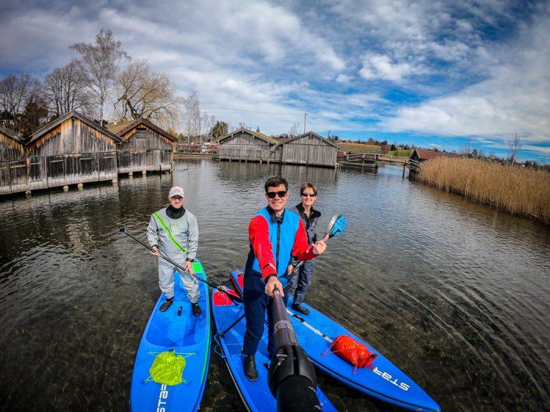 Gemeinsam auf SUP-Tour am Staffelsee (Foto: T. Pfannkuch)