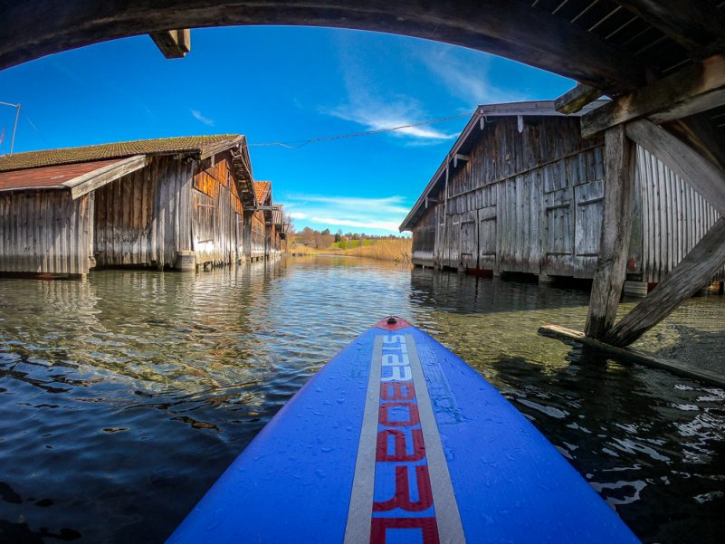 Die Landschaft entdecken - am besten geht's mit dem SUP (Foto: T. Pfannkuch)