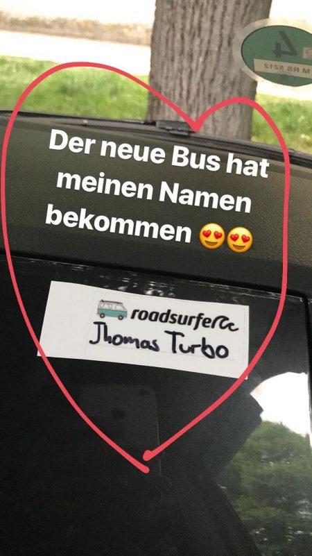 """Getauft auf """"Thomas Turbo"""": Leider nur der geliehen (Foto: T. Pfannkuch)"""