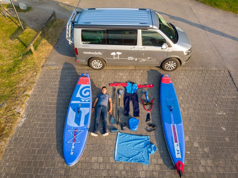 Alles für's Stand Up Paddling an Bord (Foto: V. Regehr)
