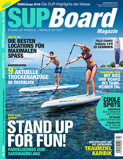 Cover SUP Board Magazin 3/2018