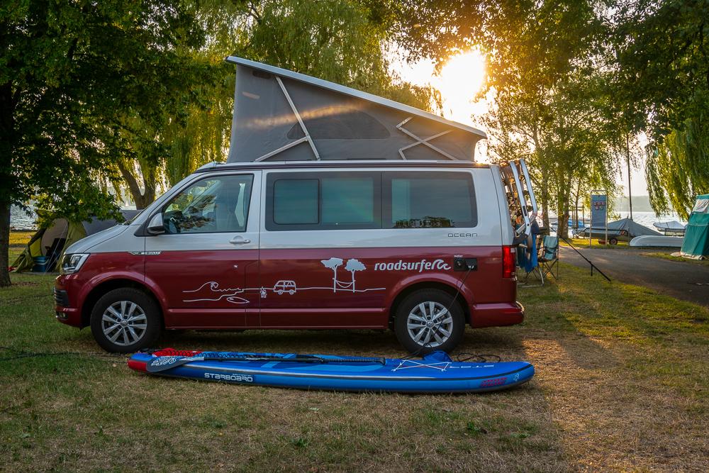 Mit dem Roadsurfer VW-Bulli auf Tour durch die Schweiz und Frankreich (Foto: T. Pfannkuch)