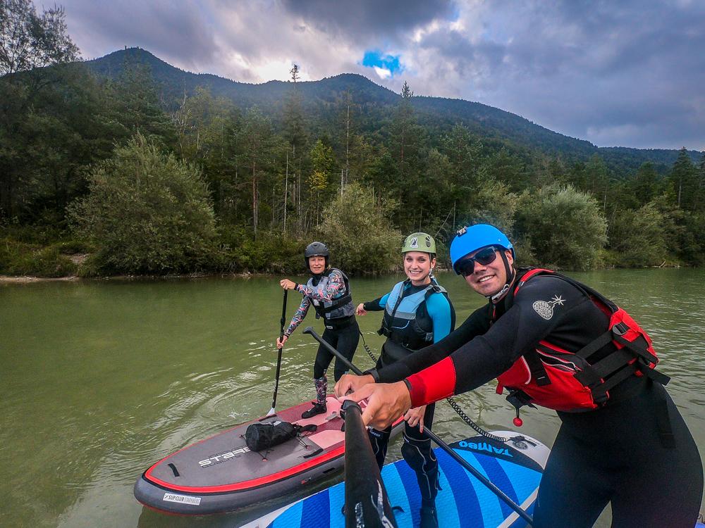 Jahresabschluss mit dem SUP-Club Starnberg See auf der Isar (Foto: T. Pfannkuch)