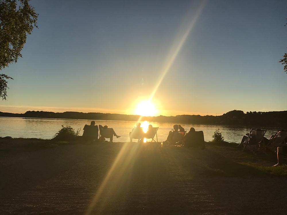 Sonnenuntergang am Wörthsee bei Il Kiosko