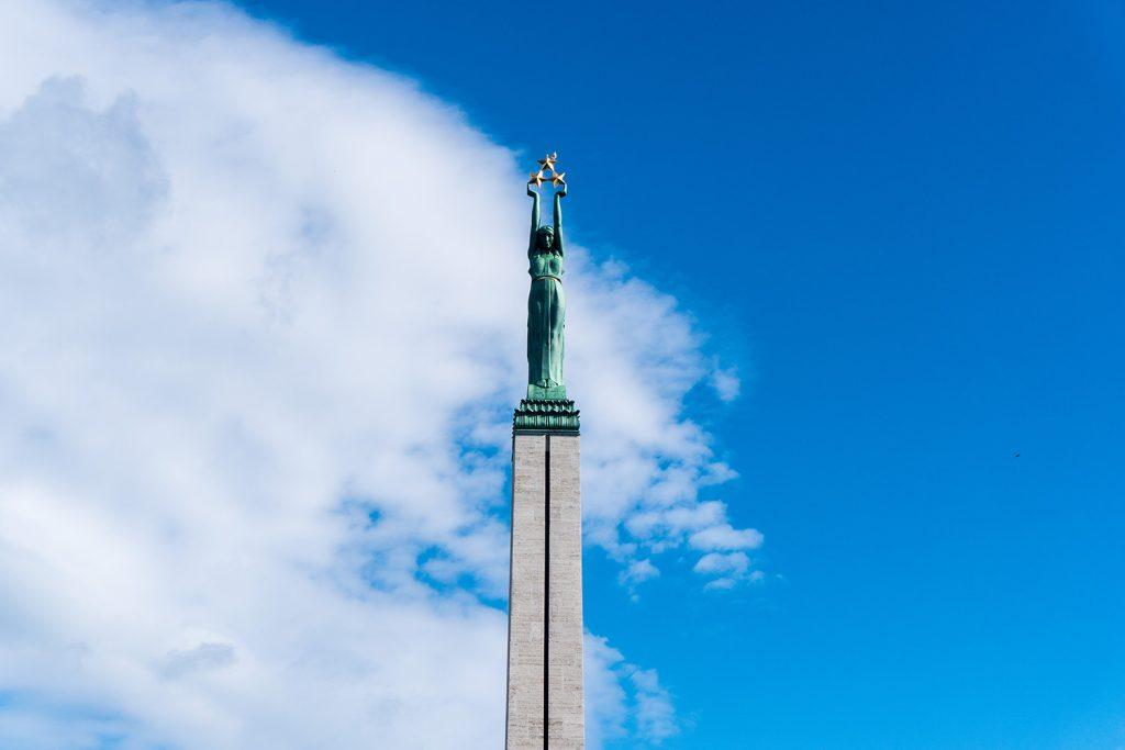 Das Freiheitsdenkmal ist das Symbol für die nationale Souveränität Lettlands