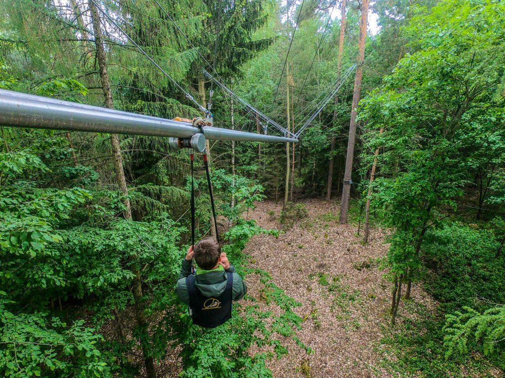 Fly-Line am Brombachsee im Fränkischen Seenland