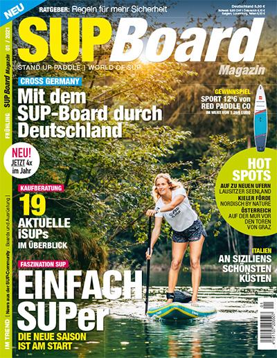 Cover SUP Board Magazin 1/2021